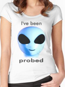 I've been probed Women's Fitted Scoop T-Shirt