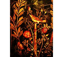 POMPEII COLLECTION NIGHTINGALE WITH RED ROSES Photographic Print