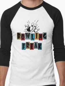 Funny Bowling T-Shirt Men's Baseball ¾ T-Shirt