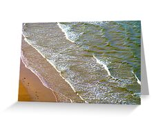 Rolling Gently To The Shore Greeting Card