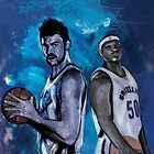 Marc Gasol & Z-Bo by Philip Thompson