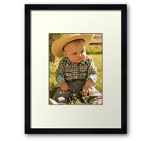 Cowgirl is in my Blood Framed Print