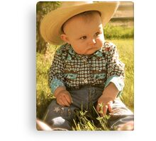 Cowgirl is in my Blood Canvas Print