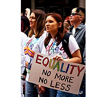 Equality Photographic Print