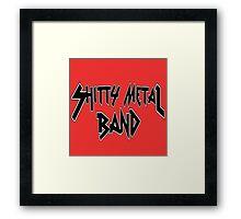 Shitty Metal Band Framed Print