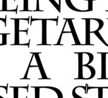 Being a vegetarian is a big missed steak Sticker