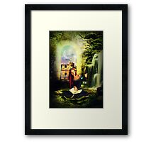 She Lives in a Fairytale... Framed Print