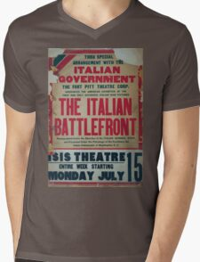 Thru special arrangement with the Italian government the Italian battlefront Mens V-Neck T-Shirt