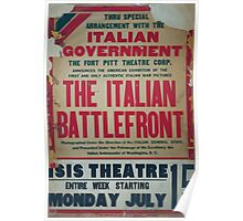 Thru special arrangement with the Italian government the Italian battlefront Poster