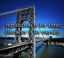 Character is for Eternity. by uncloudless