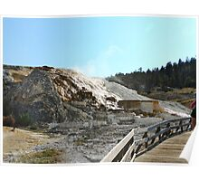 Hot Springs in Mammoth Falls Poster