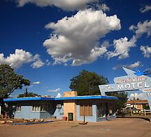 Route 66 - Blue Swallow Motel by Frank Romeo