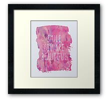 You Are Beautiful Quote Framed Print