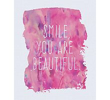 You Are Beautiful Quote Photographic Print