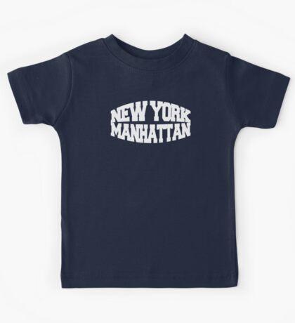 New York Manhattan - white Kids Tee