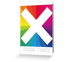 Jamie xx Good times in colour Greeting Card