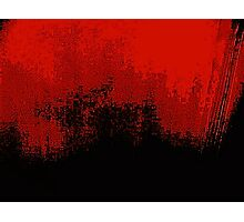 Red Darkness Photographic Print