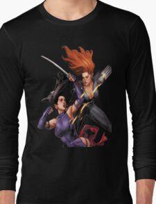 Psylocke vs. Black Widow Long Sleeve T-Shirt