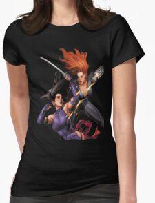 Psylocke vs. Black Widow Womens Fitted T-Shirt