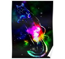 Galaxy cat Poster