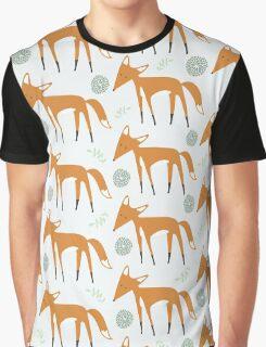 Foxy Pattern Graphic T-Shirt