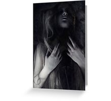 All the black is really white  Greeting Card