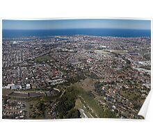 Newcastle, an aerial view Poster