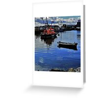 Howth Head Harbor Greeting Card