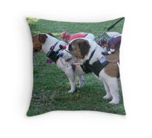 Champing at the bit Throw Pillow