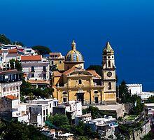 Amalfi - Sorento road in Campania Italy by RAN Yaari