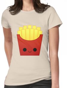 kawaii french fries Womens Fitted T-Shirt