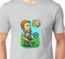 BMX Love in Full Bloom Unisex T-Shirt