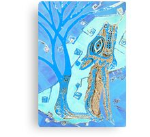 Coyote in Light Blue Canvas Print