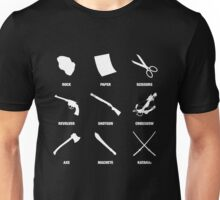 Rock, Paper, Scissors - Zombie Edition Unisex T-Shirt