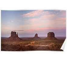 Monument Valley at dusk Poster