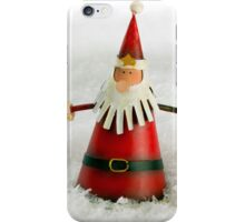 Father Christmas in Snow iPhone Case/Skin
