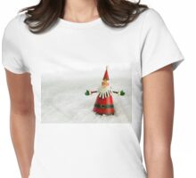 Father Christmas in Snow Womens Fitted T-Shirt