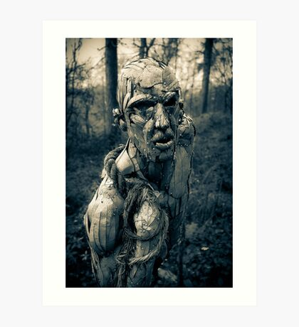 A stranger in the forest. Art Print