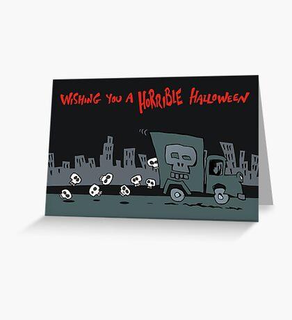 skull truck Greeting Card