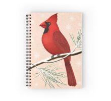 american red cardinal winter version :) Spiral Notebook