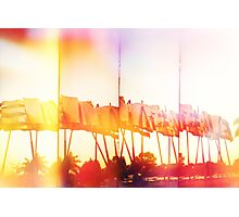 Cuban Flags Photographic Print
