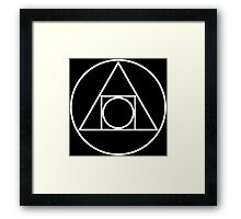 Squaring the circle Framed Print