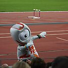 Mascot doing the Lightning Bolt by dsimon