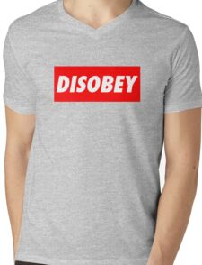 disobey (obey parody) Mens V-Neck T-Shirt