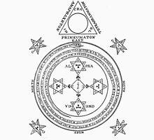 Solomon Circle Goetia Black n White Unisex T-Shirt