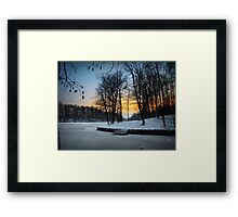Ice Everywhere Framed Print
