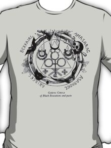 Circle of Black Evocations and Demonic pacts T-Shirt