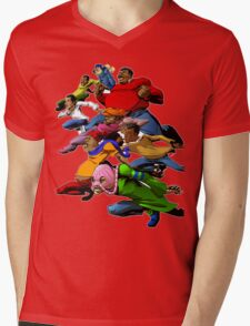 Fat Albert and the Gang Ready for battle Mens V-Neck T-Shirt