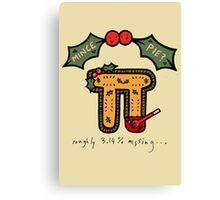 Christmas Mince ᴨ Canvas Print