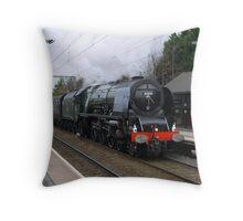 LMS 46233 'Duchess of Sutherland' at Aston Throw Pillow